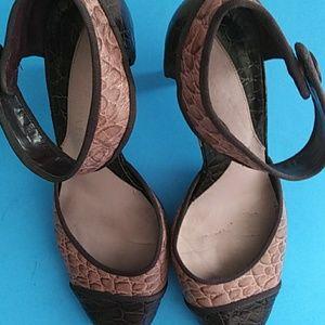 Gianni bini heels purple leather upper
